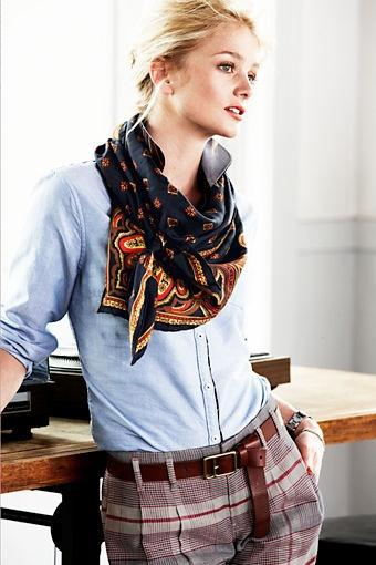 Αποθέωσε το office look σου με ένα stylish φουλάρι!